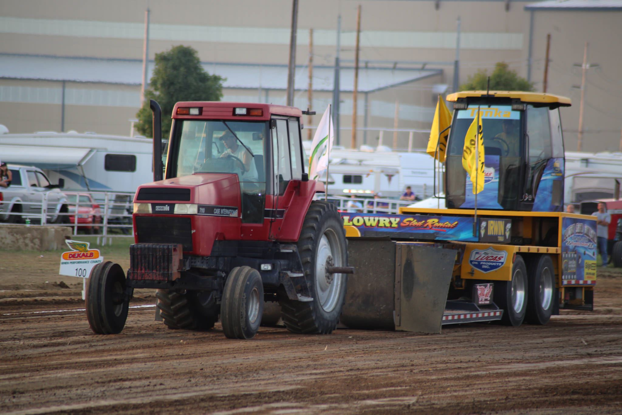 Photo of a tractor pull at the Porter County Fair