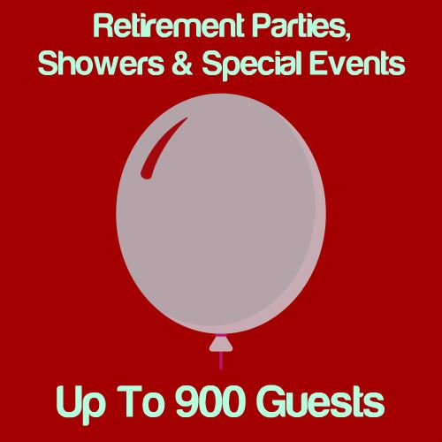 Retirement, Shower & Special Events: Up To 900 Guests Icon