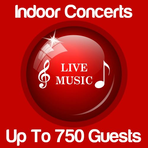 Indoor Music Concert Up To 750 Guests Icon