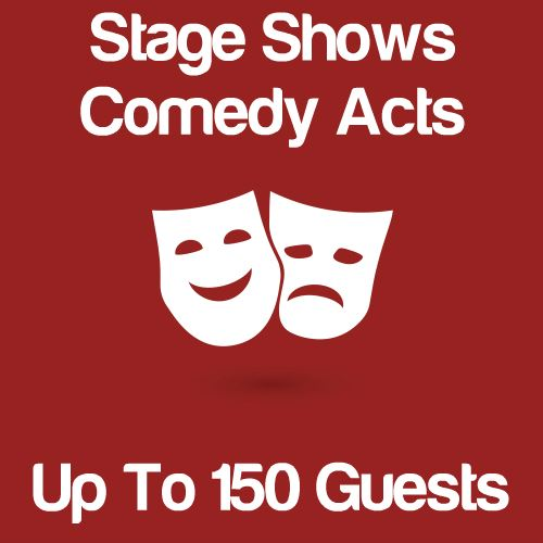 Stage Shows And Comedy Acts Up To 150 Guests Icon