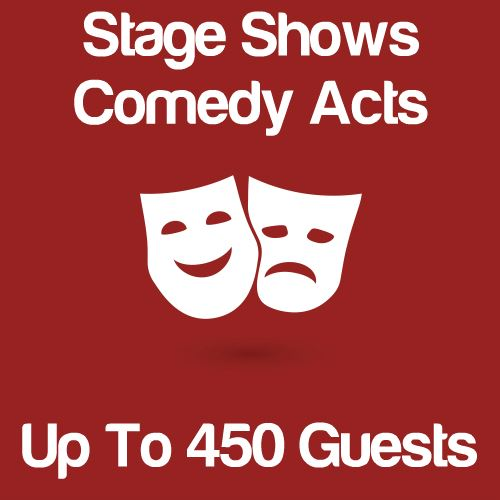 Stage Shows And Comedy Acts Up To 450 Guests Icon